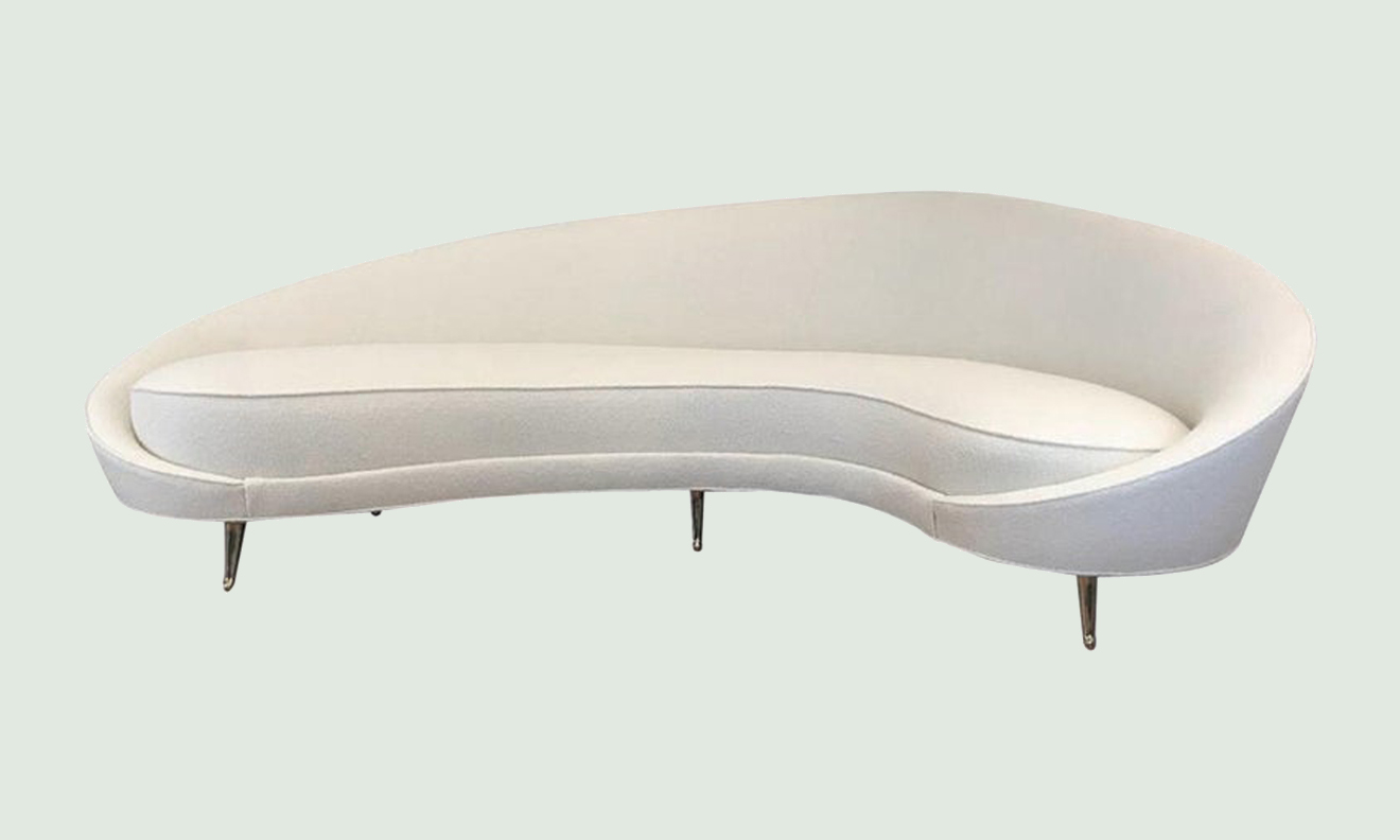 Large Curved Sofa by Federico Munari, Italy, 1950